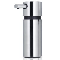 Blomus Areo polished stainless steel large soap dispenser