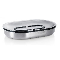 Blomus Areo brushed stainless steel soap dish