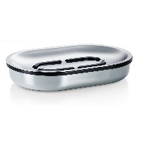Blomus Areo polished stainless steel soap dish
