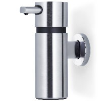 Blomus Areo brushed stainless steel larege wall mounted soap dispenser