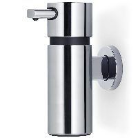 Blomus Areo polished stainless steel large wall soap dispenser