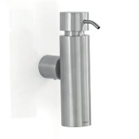 Blomus Duo brushed stainless steel wall soap dispenser