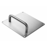 dline hardware pull handles on square back plate